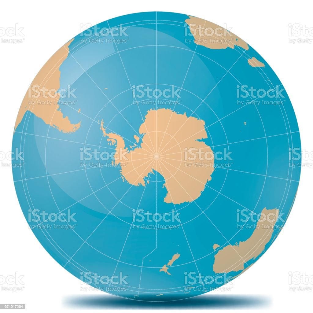 South Pole Planet Earth vector art illustration