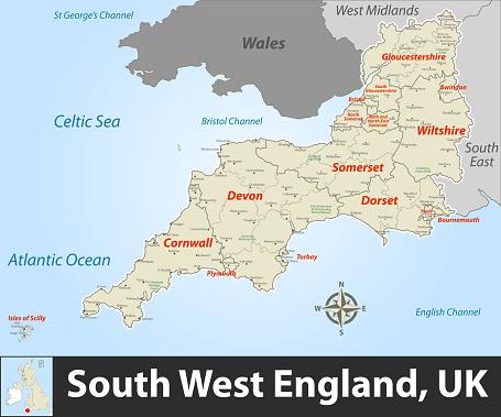 South West England region