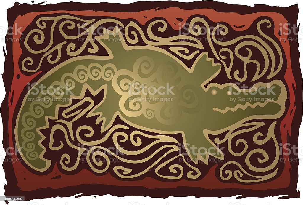 South West Gator royalty-free stock vector art