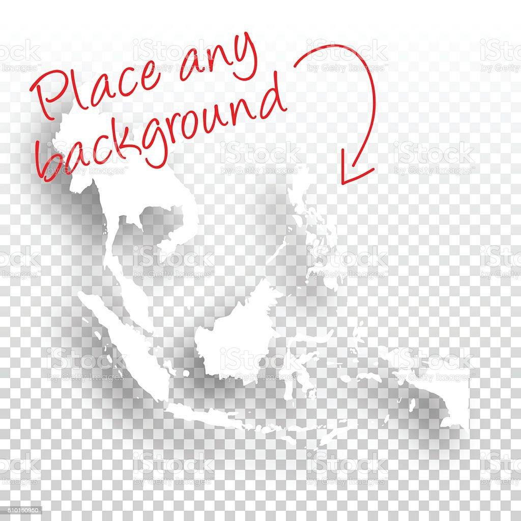 Southeast Asia Map for design - Blank Background vector art illustration