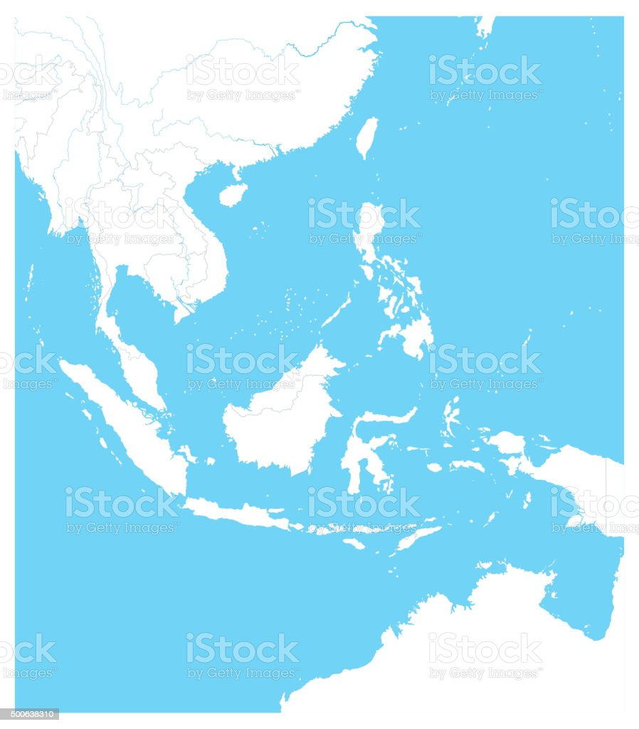 southeast asia outline map royalty free southeast asia outline map stock vector art