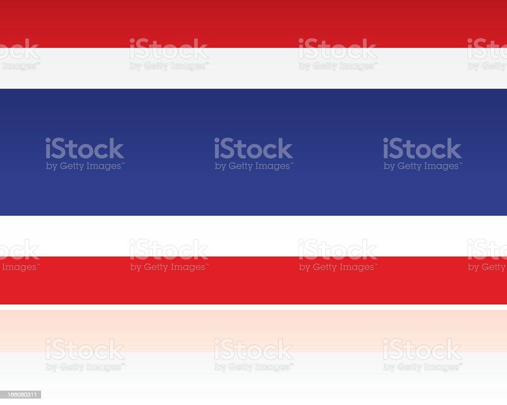 Südasiatische Flagge: , Thailand – Vektorgrafik
