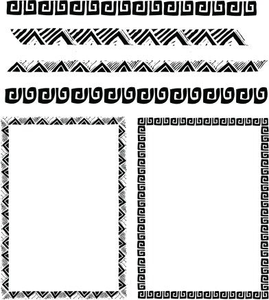 A variety of vector format Southwest borders. 2 additional full frames of two of these designs also incuded.