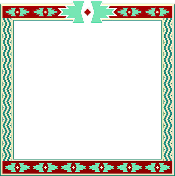 Royalty free navajo pattern clip art vector images for American frame coupon