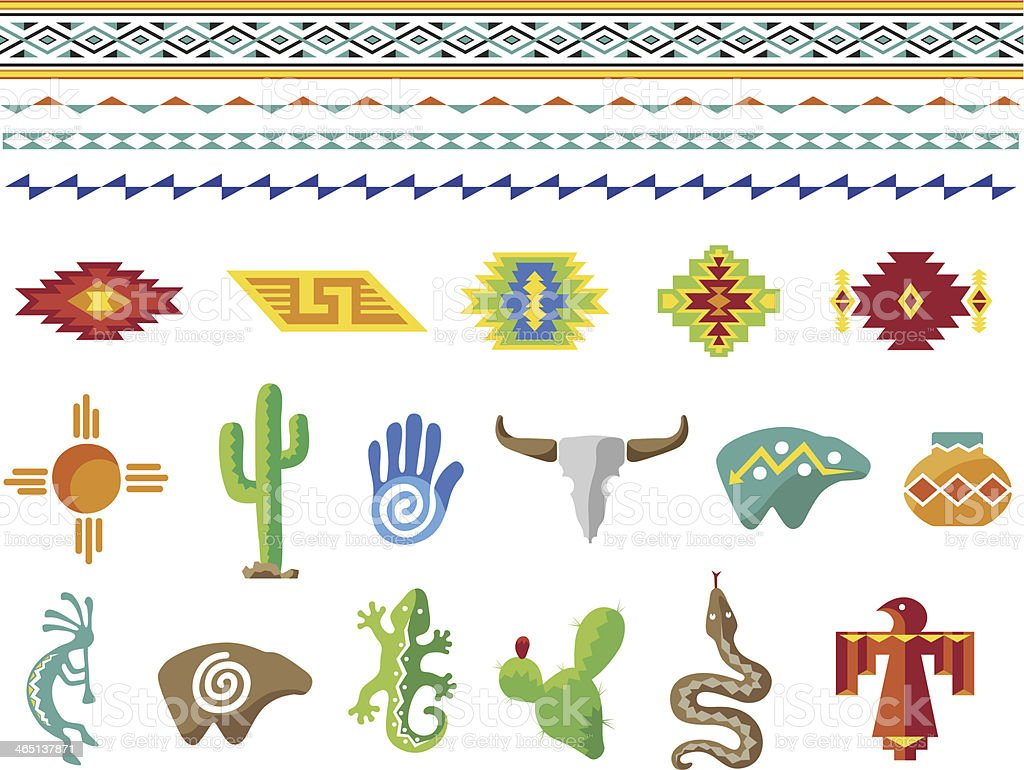 Southwestern Style design vector art illustration