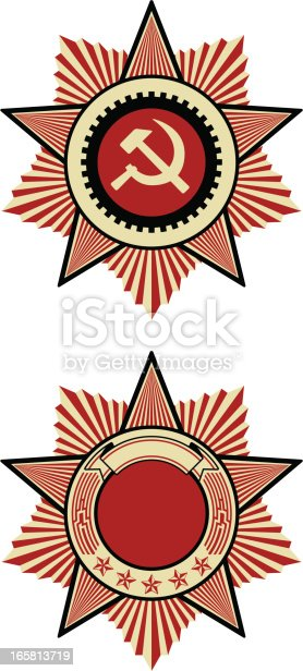 two models of classic sovietic insignia
