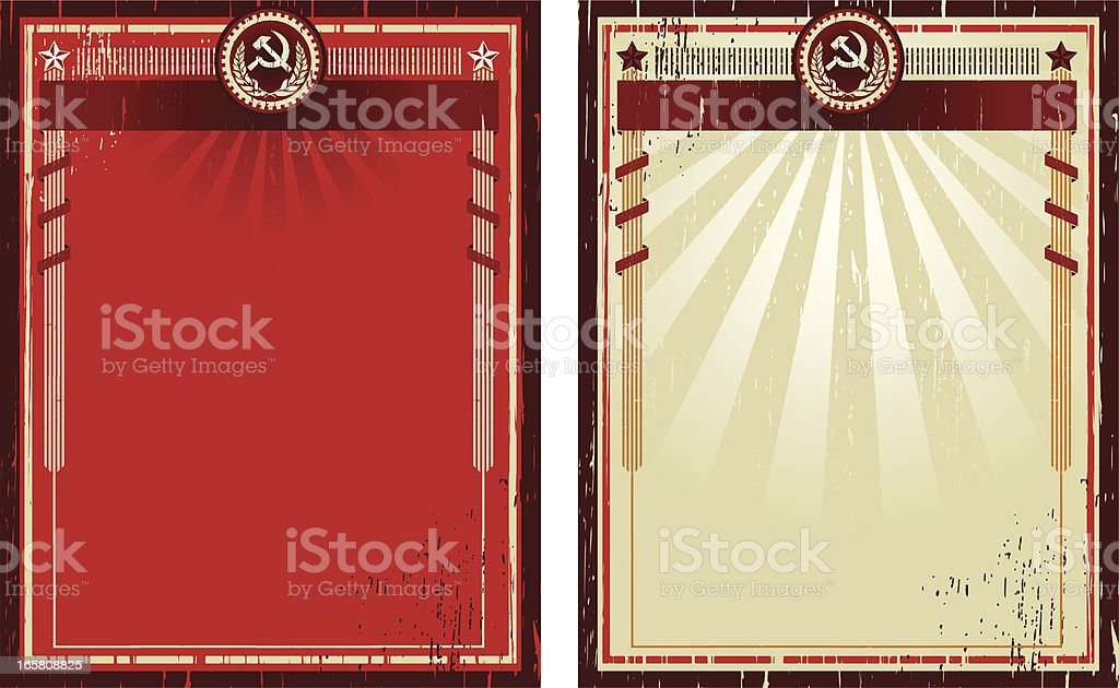 soviet grunge royalty-free stock vector art