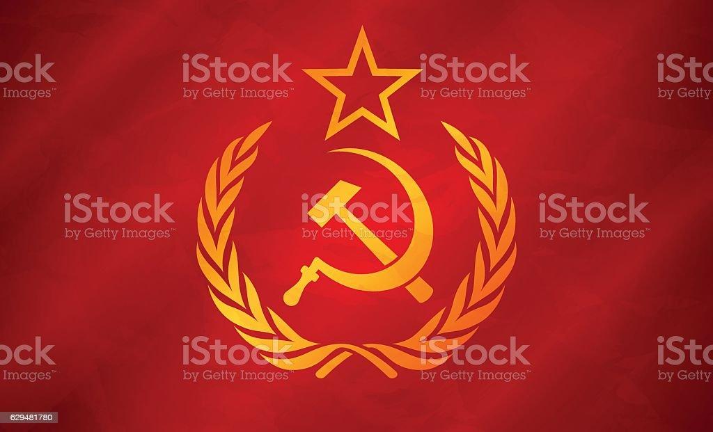 Soviet Union Flag Concept vector art illustration