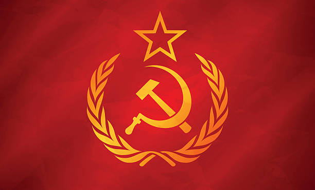 soviet union flag concept - russian flag stock illustrations, clip art, cartoons, & icons