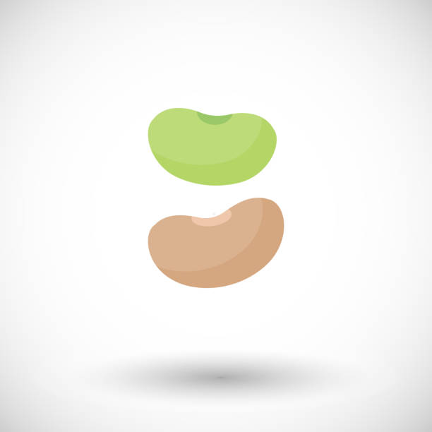 醤油豆フラット ベクトル アイコン - 枝豆点のイラスト素材/クリップアート素材/マンガ素材/アイコン素材