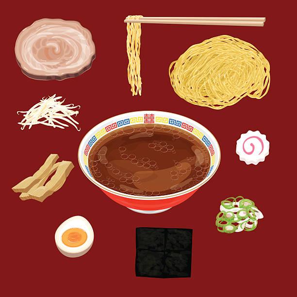 醤油ラーメン資料 - ラーメン点のイラスト素材/クリップアート素材/マンガ素材/アイコン素材