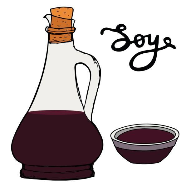soja-sauce - dressing stock-grafiken, -clipart, -cartoons und -symbole