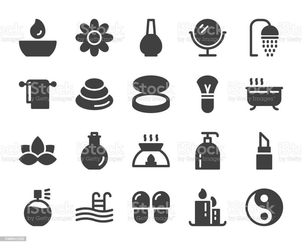 Spa and Beauty - Icons vector art illustration