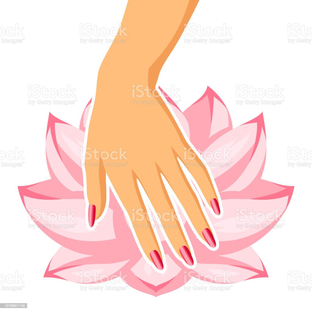 Nail Art Vector: Spa Care For Hands And Nails Stock Vector Art & More