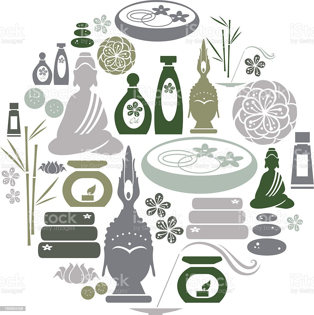 Spa Icon Set royalty-free spa icon set stock vector art & more images of beauty