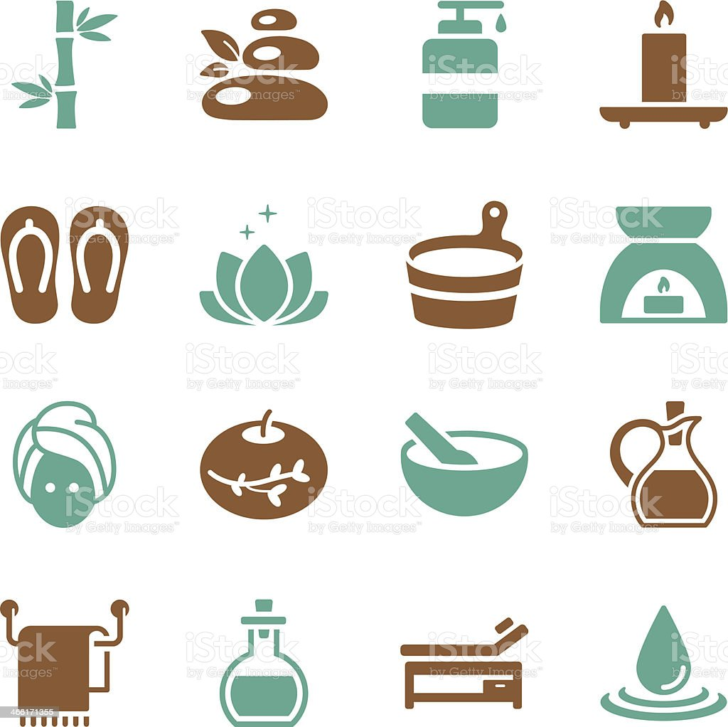 Spa Icons | Color Series vector art illustration