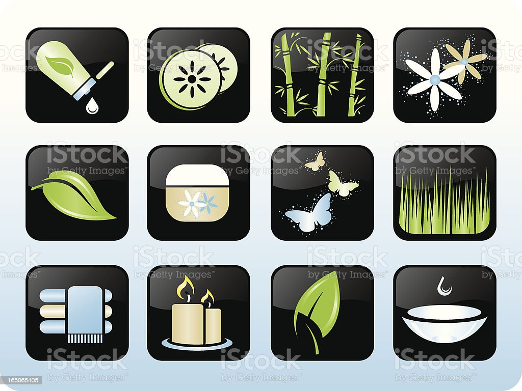 Spa Icons royalty-free stock vector art