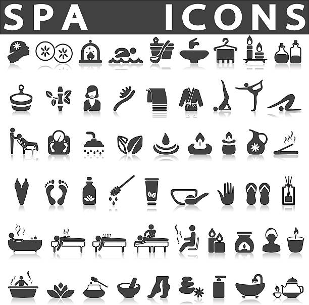 spa-symbole  - alternative medizin stock-grafiken, -clipart, -cartoons und -symbole