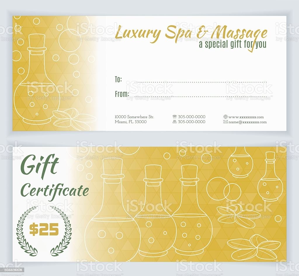 massage therapy gift certificate template free image
