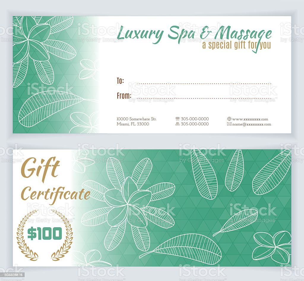 Spa massage gift certificate template stock vector art 503328816 spa massage gift certificate template royalty free stock vector art yadclub Gallery