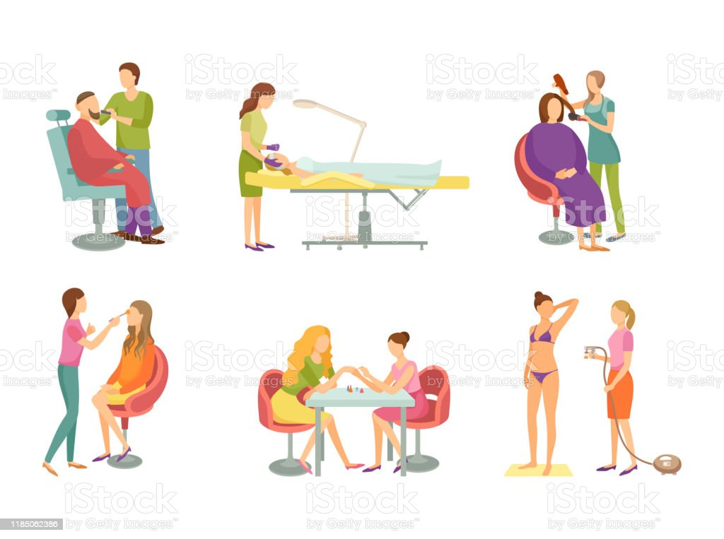 Spa Procedure In Beauty Salon Cartoon Banner Set Stock Illustration Download Image Now Istock