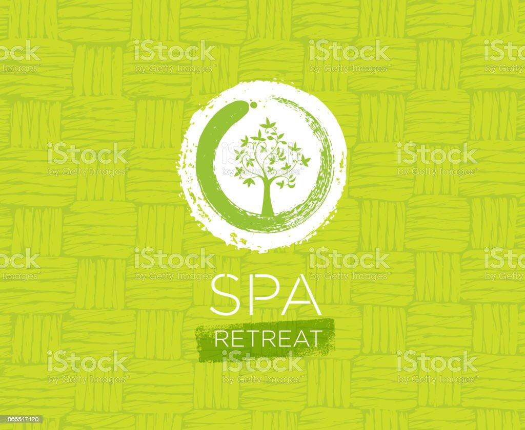 Spa Retreat Organic Eco Background. Nature Friendly Vector Concept vector art illustration