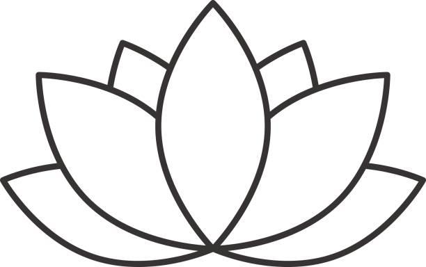 ilustrações, clipart, desenhos animados e ícones de ícone de flor do spa do salão de beleza - lotus