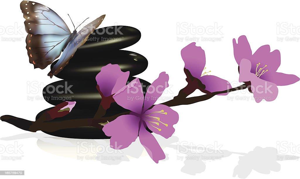 Spa Scene vector art illustration