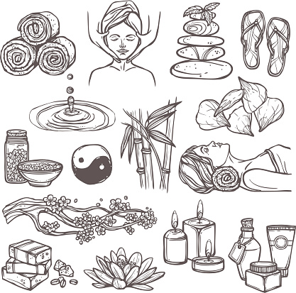 spa sketch icons