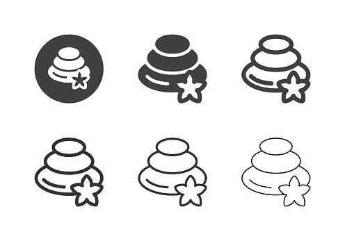 Spa Stone Icons - Multi Series