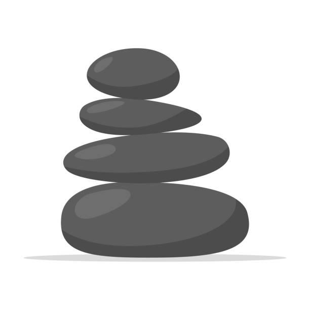 spa stones icon - pebbles stock illustrations, clip art, cartoons, & icons
