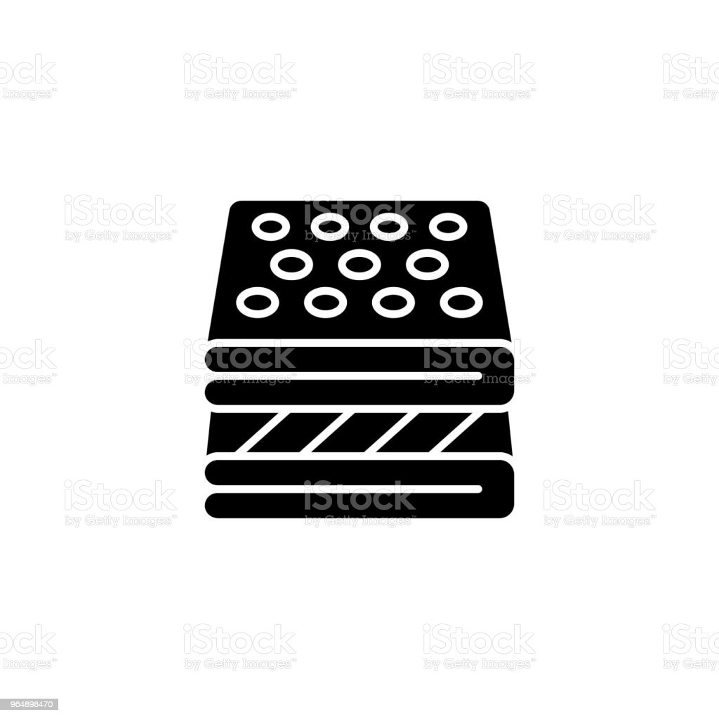 Spa towels black icon concept. Spa towels flat  vector symbol, sign, illustration. royalty-free spa towels black icon concept spa towels flat vector symbol sign illustration stock vector art & more images of backgrounds