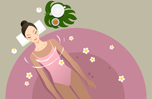 Spa and spa treatment stock illustrations
