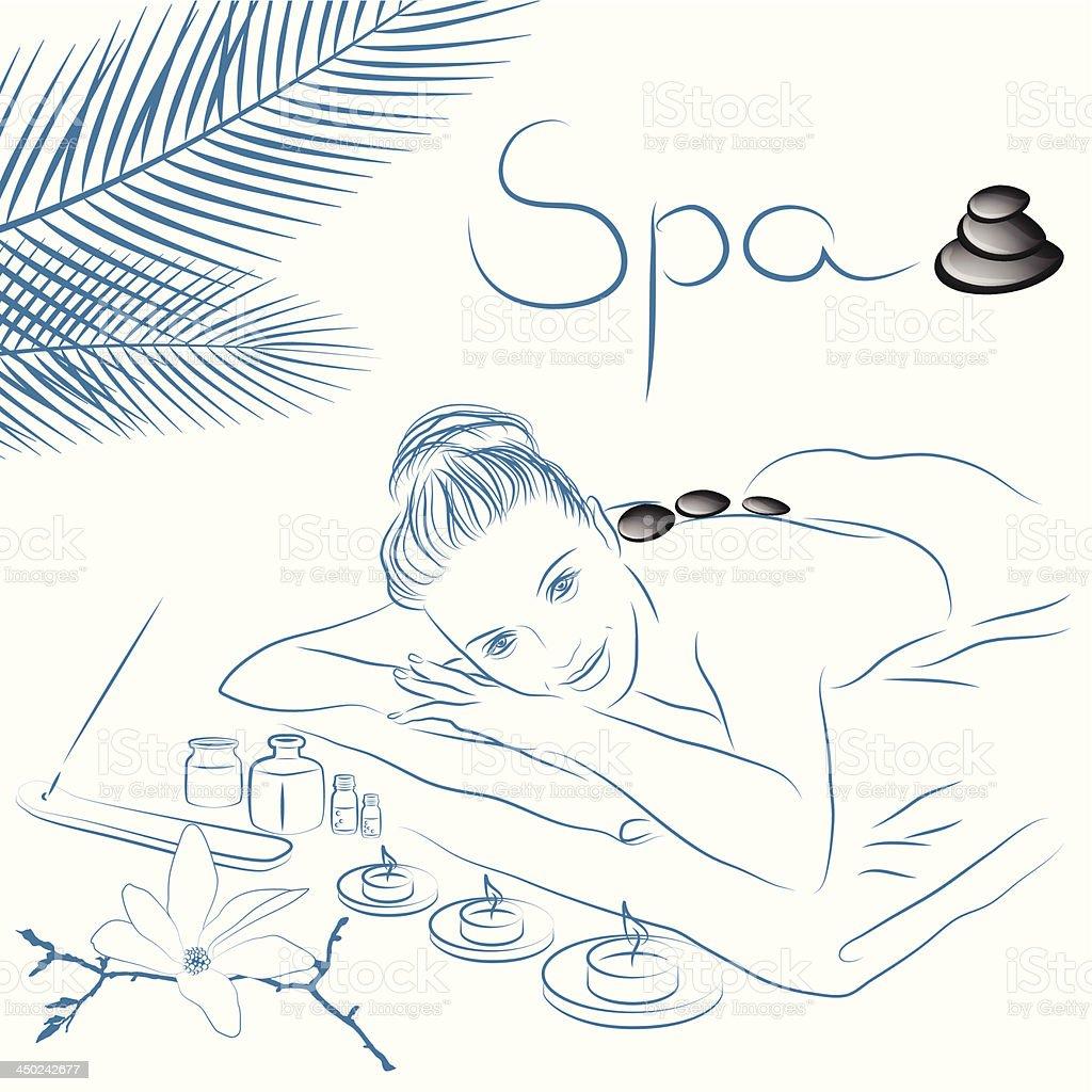 spa treatment royalty-free stock vector art