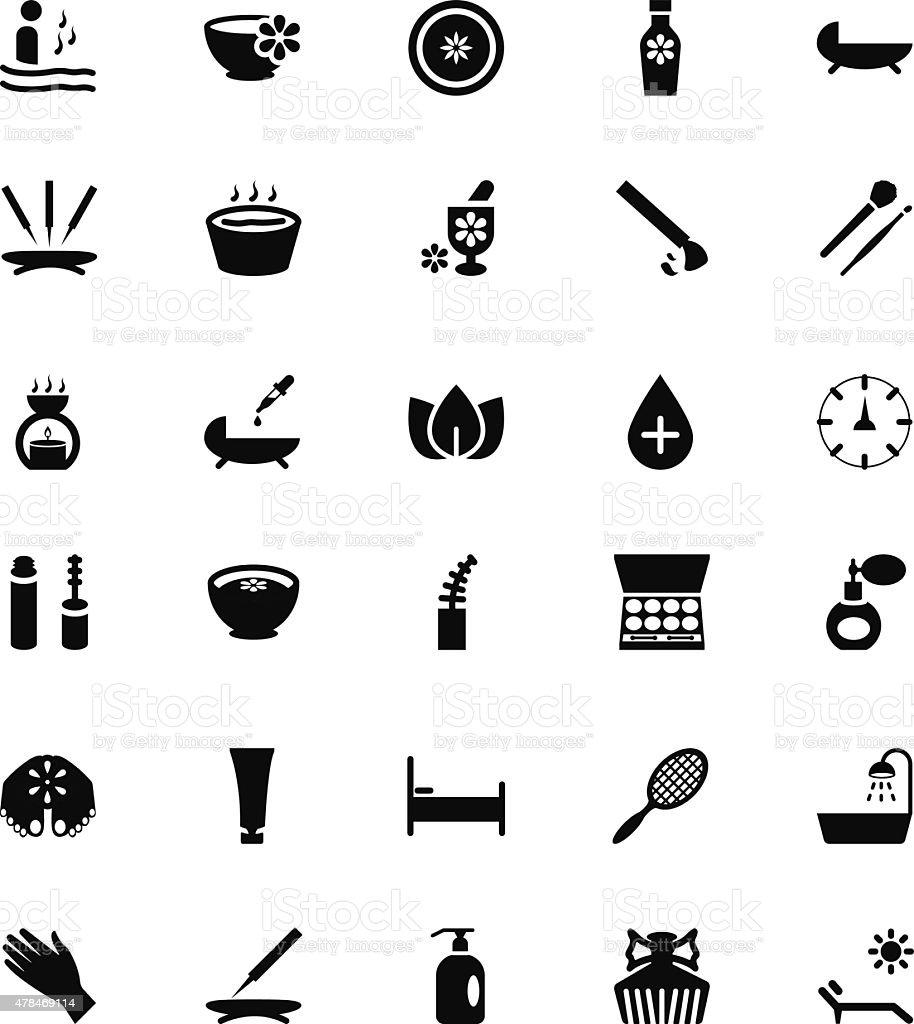 Vector iconos de Spa 3 - ilustración de arte vectorial