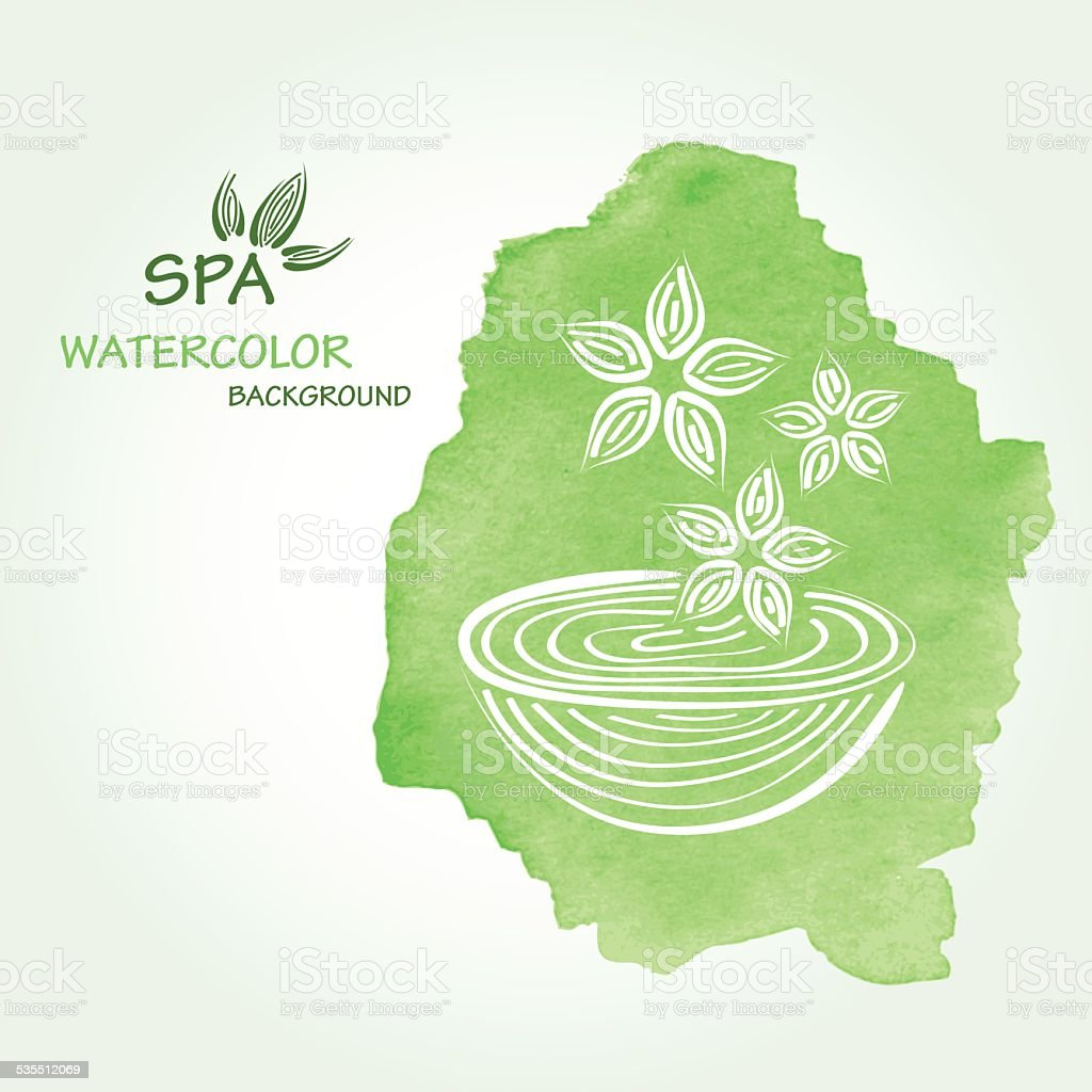 Spa watercolor background in vector. vector art illustration