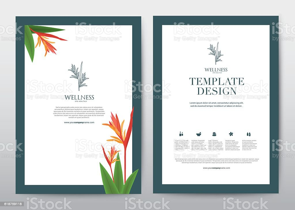 Spa wellness medical topic template elements presentation broc stock spa wellness medical topic template elements presentation broc royalty free spa wellness medical stopboris Images