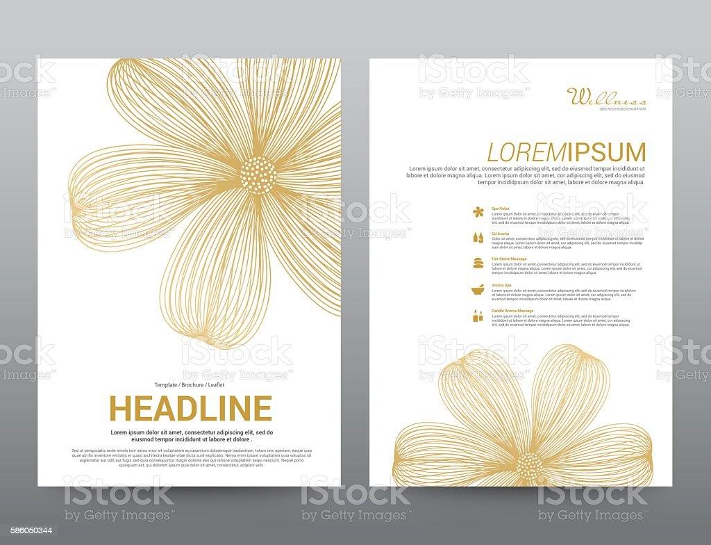 spa wellness medical topic template elements presentation vector