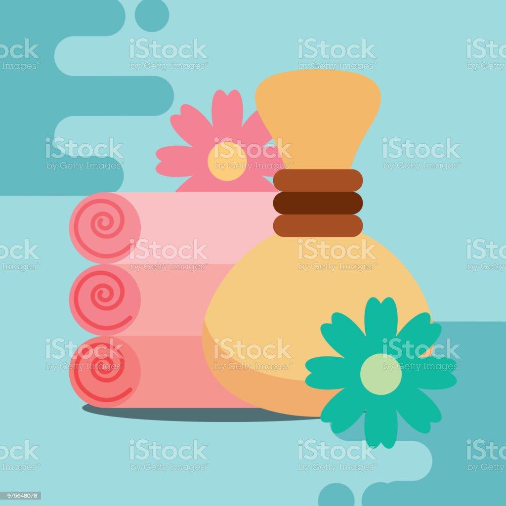 spa wellness related vector art illustration