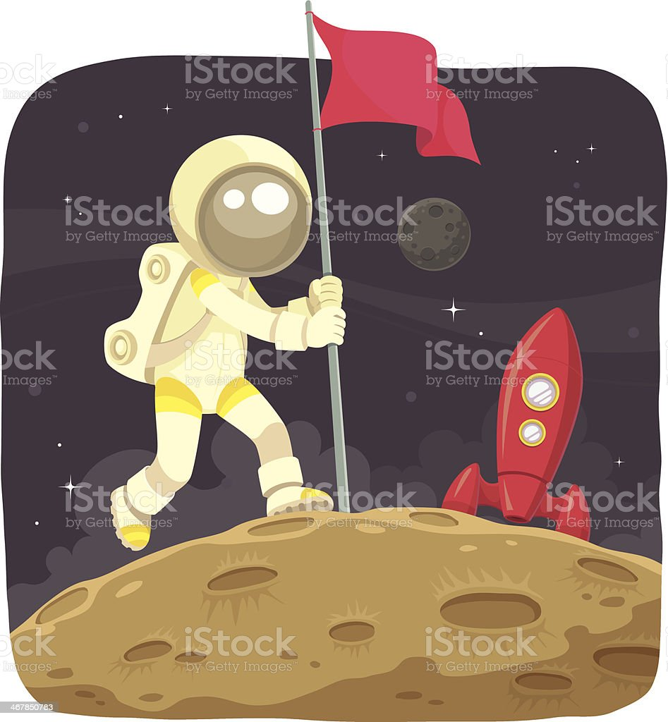 Space Adventurer vector art illustration