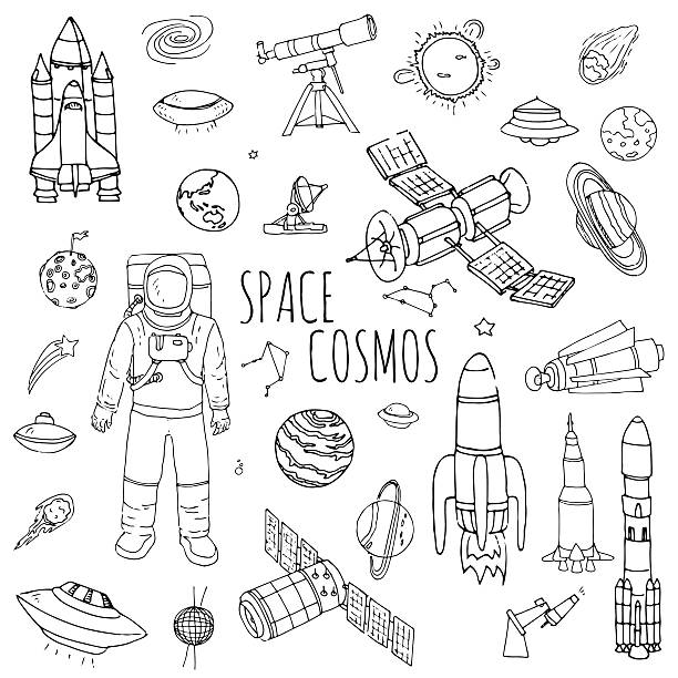Space and Cosmos vector art illustration