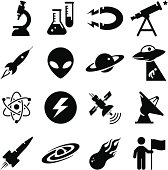 Space and Science Icons - Black Series