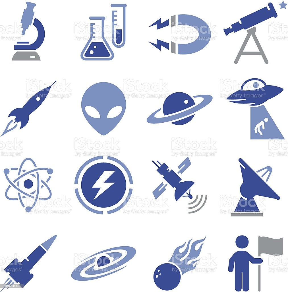 Space and Science Icons - Pro Series royalty-free space and science icons pro series stock vector art & more images of alien
