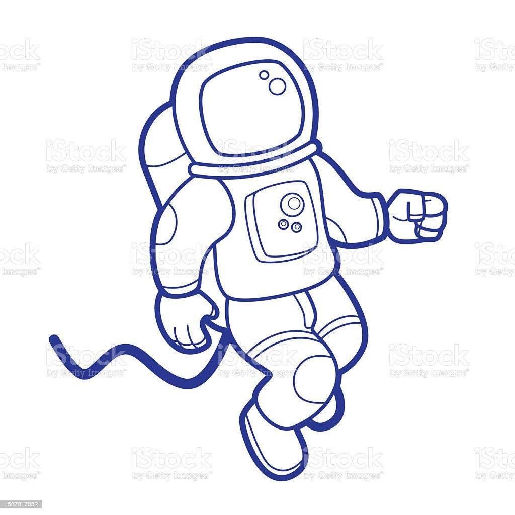 Spazio Astronauta - illustrazione arte vettoriale