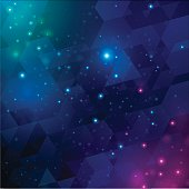 Space background abstract illustration. EPS 10 file. Transparency effects used on highlight elements.