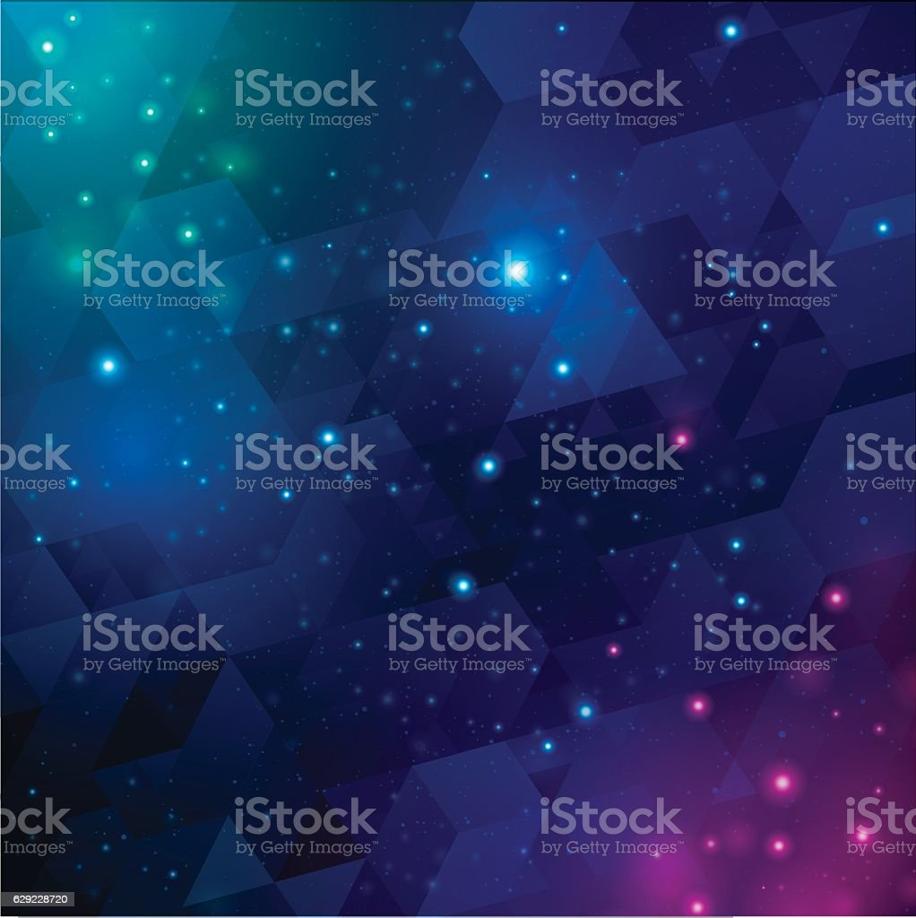 Space Background Abstract vector art illustration