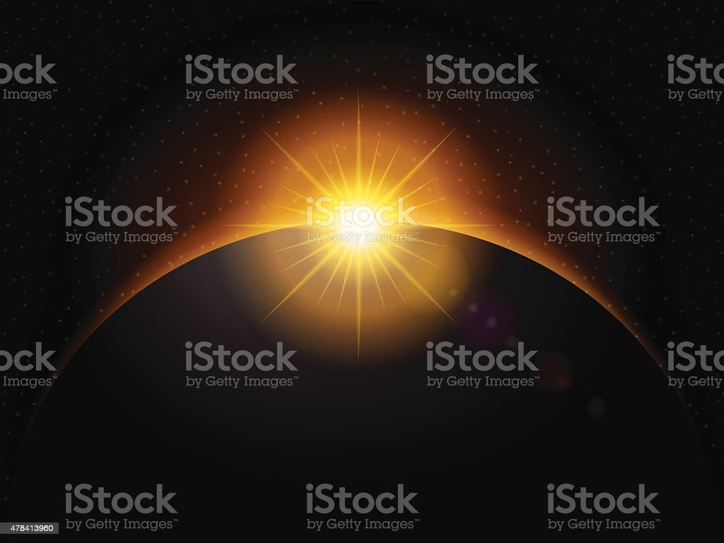 space background vector art illustration