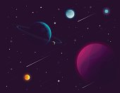 Space background. Vector illustration