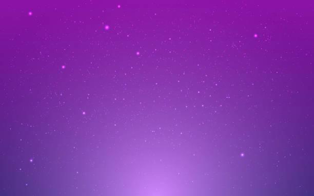 raumhintergrund. violetter kosmos mit sternenstaub. lila unendliches universum und leuchtende sterne. realistischer bunter kosmos. magische farbe galaxie. sternenmilch- vektor-illustration - milky way stock-grafiken, -clipart, -cartoons und -symbole