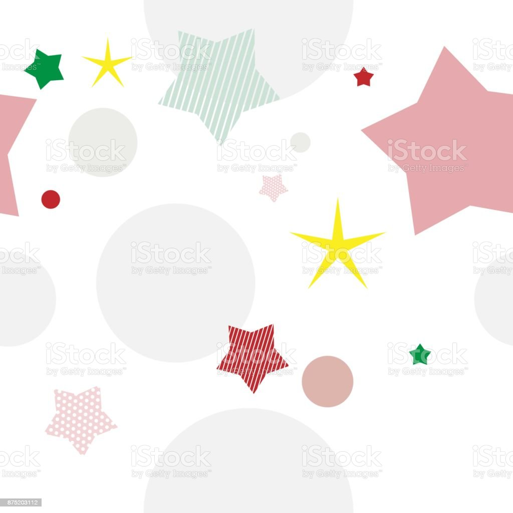 Space background with stars and planets on a white background vector art illustration
